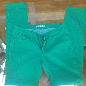 Green Prana jeans, size 29/8